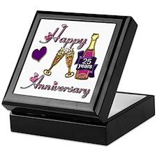 Cute 25th wedding anniversary Keepsake Box