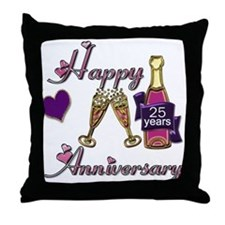 Cute Anniversary 25 Throw Pillow
