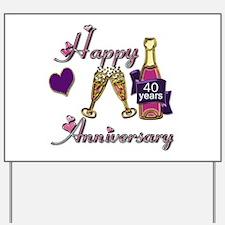 Cute 40th wedding anniversary Yard Sign