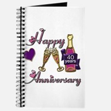 Cute 40th wedding anniversary Journal