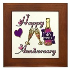 Cute 50th wedding anniversary party Framed Tile