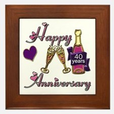Unique Anniversary 40th Framed Tile