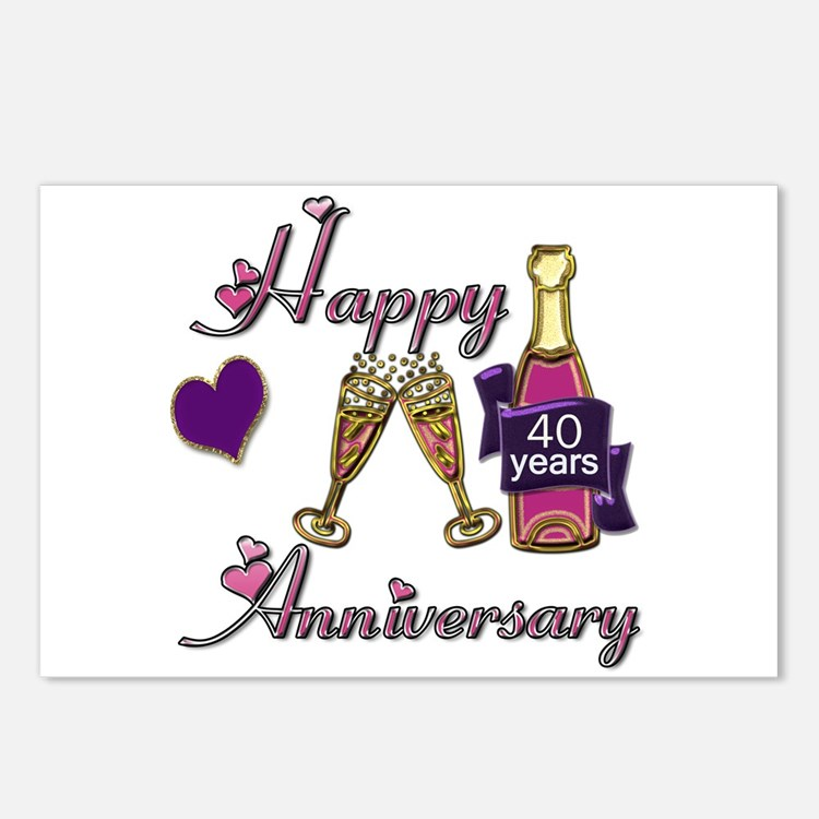 Cute Wedding anniversary party Postcards (Package of 8)