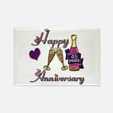 Cute 45th wedding anniversary Rectangle Magnet