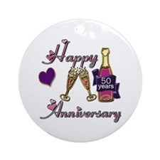 Cute 50th anniversary Ornament (Round)