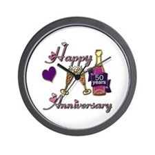 Cool 50th wedding anniversary Wall Clock
