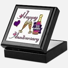 Unique 55th wedding anniversary Keepsake Box