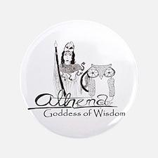 """Athena: Goddess of Wisdom 3.5"""" Button"""
