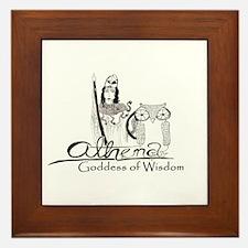 Athena: Goddess of Wisdom Framed Tile