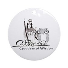 Athena: Goddess of Wisdom Ornament (Round)