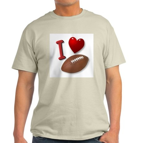 I Love Football Ash Grey T-Shirt