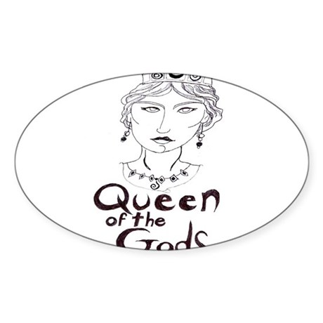 Queen of the Gods (w/o peacoc Sticker (Oval 50 pk)