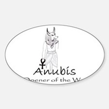 Anubis: Opener of the Way Sticker (Oval)