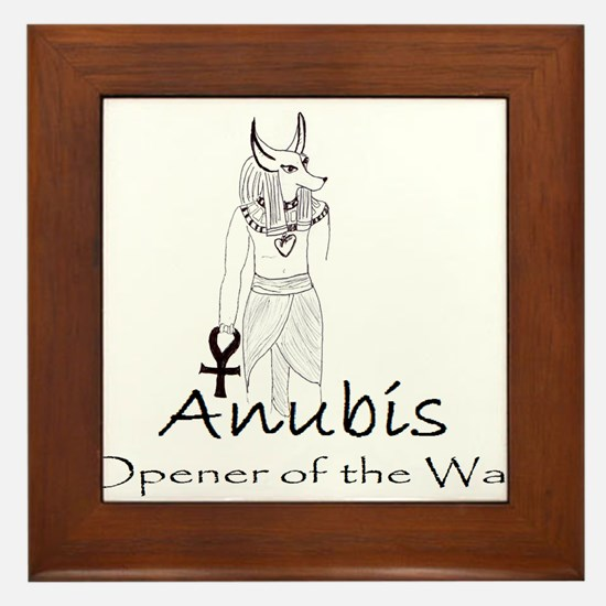 Anubis: Opener of the Way Framed Tile