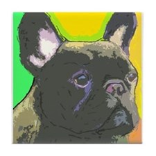 Unique Brindle french bulldog Tile Coaster