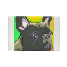 brindle frenchie cafe Magnets