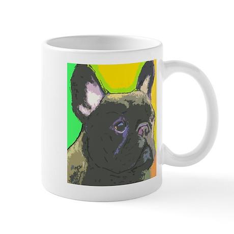 brindle frenchie cafe Mugs