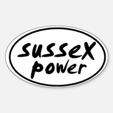 Sussex POWER Oval Decal