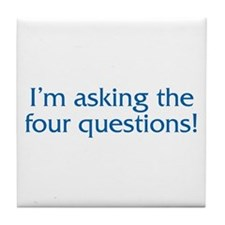 The Four Questions Tile Coaster