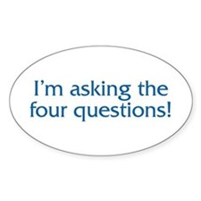 The Four Questions Oval Decal