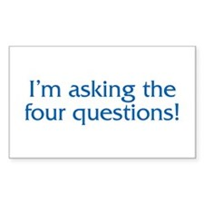 The Four Questions Rectangle Decal