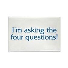 The Four Questions Rectangle Magnet