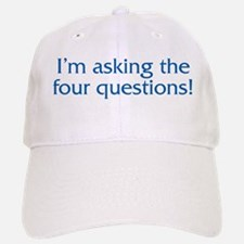 The Four Questions Baseball Baseball Cap