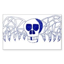 Gothic Winged Skull Decal