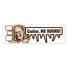 Carlos, NO SOUND Sticker (Bumper)