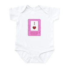 i heart ebooks Infant Bodysuit
