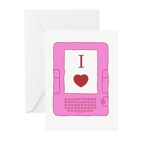 i heart ebooks Greeting Cards (Pk of 20)
