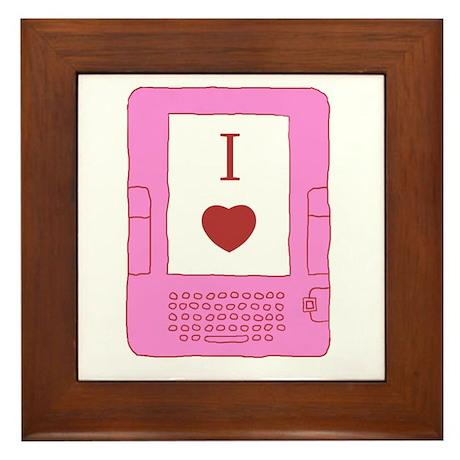 i heart ebooks Framed Tile
