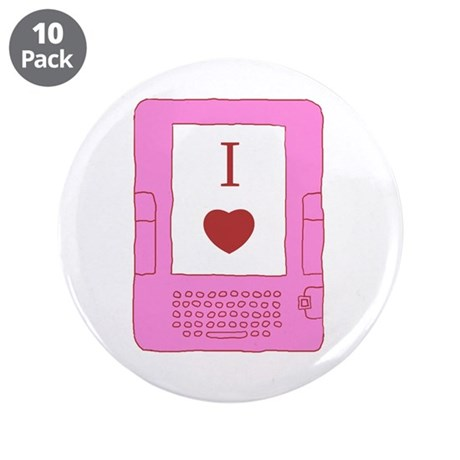 "i heart ebooks 3.5"" Button (10 pack)"