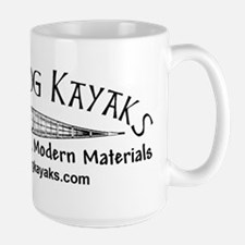 Black Dog Kayak Large Mug