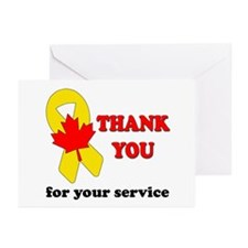 Cute Canadian military Greeting Cards (Pk of 10)
