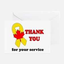 Funny Thank you military Greeting Cards (Pk of 20)