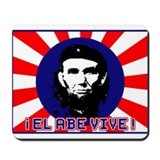 El Abe Vive Burst Mousepad