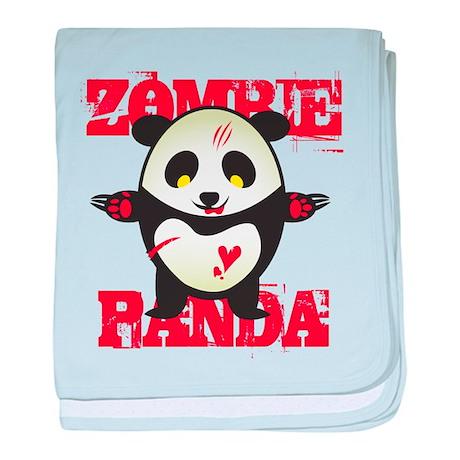 Zombie Panda baby blanket