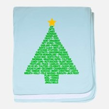 Christmas Tree Words Infant Blanket