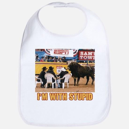 I'm with stupid (bull) Bib