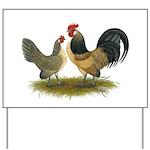 Dutch Blue Quail Chickens Yard Sign