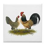 Dutch Blue Quail Chickens Tile Coaster