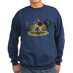 Dutch Blue Quail Chickens Sweatshirt (dark)