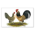 Dutch Blue Quail Chickens Sticker (Rectangle)