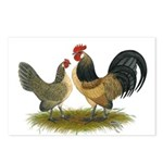Dutch Blue Quail Chickens Postcards (Package of 8)