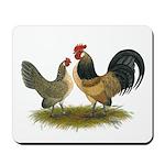Dutch Blue Quail Chickens Mousepad