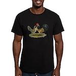 Dutch Blue Quail Chickens Men's Fitted T-Shirt (da