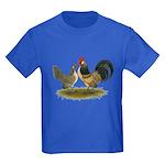 Dutch Blue Quail Chickens Kids Dark T-Shirt