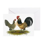 Dutch Blue Quail Chickens Greeting Cards (Pk of 20