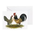 Dutch Blue Quail Chickens Greeting Cards (Pk of 10
